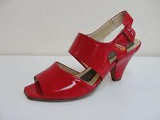 Peter Kaiser Rawita red patent open toe sandals, UK 3.5/EU 36.5, RRP £105, BNWB