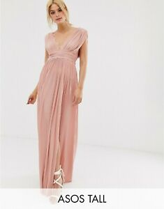 BNWOT A SOS PLEATED MAXI DRESS WITH LACE