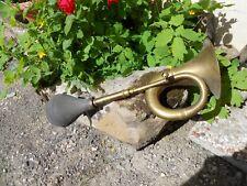 Ancien grand pouet pouet  klaxon avertisseur à poire de voiture tacot en cuivre