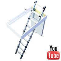 Youngman 301001 Telescopic Aluminium Loft Ladder - 2.9m - Easy Fit Access 301001