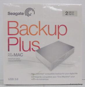 *NEW SEALED* Seagate Backup Plus for Mac STDU2000100 2TB Desktop Hard Drive