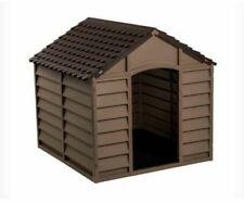 Starplast KSP50701 Outdoor Plastic Garden Dog Kennel - Mocha
