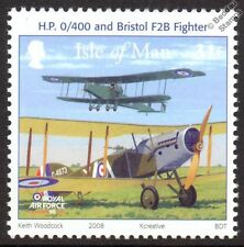 RAF HANDLEY PAGE Type O O/400 / BRISTOL F2B Aircraft Stamp (2008 Isle of Man)