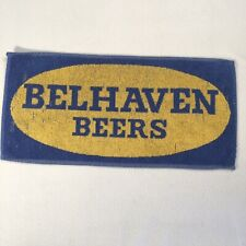 "Vintage Bar Towel Belhaven Beers 18""x9"" Breweriana Decor"