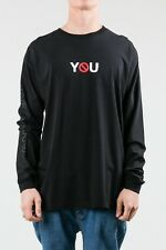 Rusty Anti You Men's T-Shirt Casual Black Size M Long Sleeve Cotton Tee