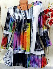 Leins Designer Kleid Tunika Bluse Shirt Top Longshirt A-Linie Weiß M 38 40