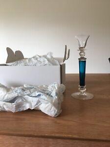 THERESIENTHAL Kerzenleuchter Kristall MEMPHIS aquamarin 250mm Neu Fullset VK€175