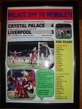 Crystal Palace 4 Liverpool 3 - 1990 FA Cup semi-final - framed print
