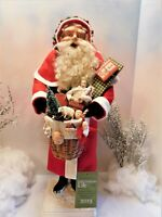 "22-1/2"" SANTA~""CHRISTMAS RED COAT""~BASKET FULL OF TOYS~OOAK~Jean T Littlejohn"