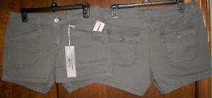 Juniors Shorts sz 5 UNION BAY DELANEY Lt Galaxy Grey 96%Cotton 4%Spandex NWT