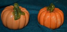 Ceramic Pumpkin Salt & Pepper Shaker Autumn Fall Halloween Thanksgiving