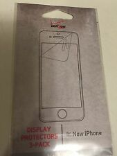 Verizon Display Protectors 3-pack For New iPhone - New in Pack