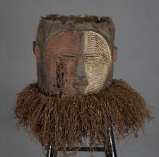 Art Africain - Masque heaume LUBA à 2 visages (janus) - Katanga ( R D Congo )