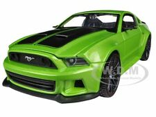 2014 FORD MUSTANG METALLIC LIGHT GREEN 1/24 STREET RACER CAR BY MAISTO 31506
