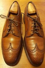 Vtg., Florsheim Imperial, Walnut Brown, Leather, V-Cleat, Wing Tips (Sz 10.5 C)