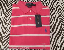 Polo Ralph Lauren Stripe de Superdry de hombre malla de algodón rosa sskc Top BNWT RRP £ 70