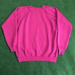 Vintage Hanes Her Way Womens Large Raglan Sleeve Crewneck Sweatshirt Made in USA