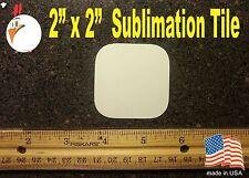 "UV-PRO! High Gloss Aluminum 2"" x 2""  TILE -- Dye Sublimation Blanks - 20 pieces"