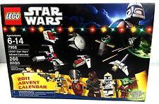 Lego 7958 Star Wars 2011 Advent Calendar NEW w/ Santa Yoda - 8 minifigs 10 ships
