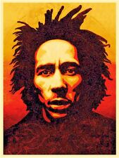 Shepard Fairey Obey Oil Painting on Canvas Urban art decor Bob Marley 28x36""