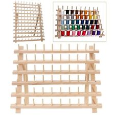 60 Spools Sewing Thread Rack Holder Wooden Embroidery Stand Storage Organizer