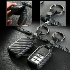 Carbon Fiber Style TPU Smart Key Fob Case Cover Shell For 2016-up Honda Civic