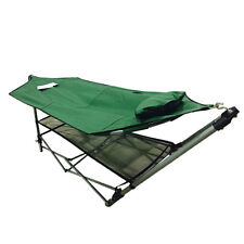 New Portable Folding Porch Camping Hammock Lounge Bed Cot with Frame Stand