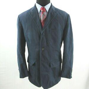 Polo Ralph Lauren Cotton Navy Blue Sport Coat Mens XL 3 Roll 2