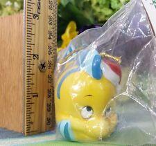 Disney Flounder little mermaid Ceramic ornament New in Package