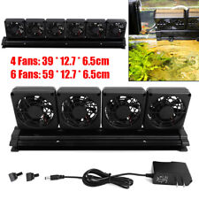 6 Cooling Fan Black Aquarium Fish Tank Cold Wind Water Chillers Hanging Mode 12V