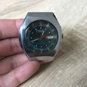 Watch Slava 26 jewels Wristwatch Rare Russia USSR Soviet SSSR