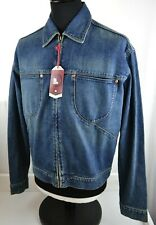 New Deadstock Men's One True Saxon Denim Jean Jacket M Medium Retro Zip Up