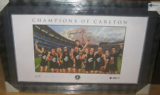 John Nicholls signed Carlton's Greatest  Players 150th Year L/Ed Print - Framed