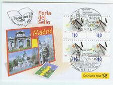 BRD FDC primero etiquetas carta 2001 feria del sello madrid mi.nr.2148 4er