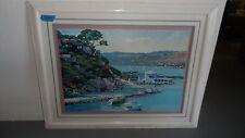 "Framed Howard Behren Printed Art ""Sausalito"" on Paper"