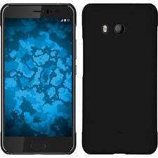 Hardcase HTC U11 rubberized black Cover + protective foils