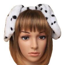 FANCY DRESS DALMATIAN DOG EARS ALICEBAND - KIDS ADULTS DOTTED HEADBAND ACCESSORY