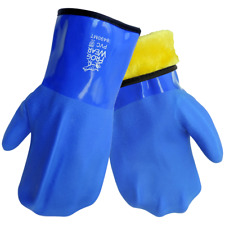"""Frog Wear Heavy Velvet Lined Cold Weather 12"""" Triple Dipped PVC Mittens Safety"""
