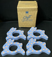 Avon Gift Collection 4 Springtime Bunny Rabbit Napkin Rings Boxed