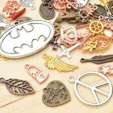 10 Assorted Charms Antique Bronze Silver Mixed Pendants Jewelry Making Supplies