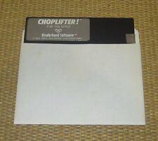 Broderbund CHOPLIFTER | Apple IIe II Computer Game Software Disk