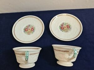 Vintage Wedgwood Windermere Partician AK7868 Cup and Saucer x2 flower basket VGC