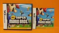 """New"" Super Mario Bros.  - Nintendo DS Case, Cover Art, Manual ONLY *NO GAME*"