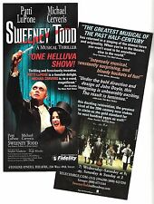 "Patti LuPone ""SWEENEY TODD"" Michael Cerveris / Stephen Sondheim 2005 Flyer"