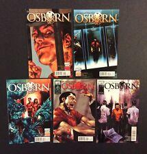 OSBORN #1 - 5 Comic Books COMPLETE Evil Incarcerated GREEN GOBLIN Spider-Man VF