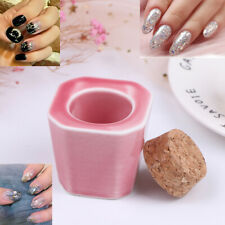 1pc Ceramic Glass Dappen Dish Bottle Liquid Bowl Cup With Wood Dr