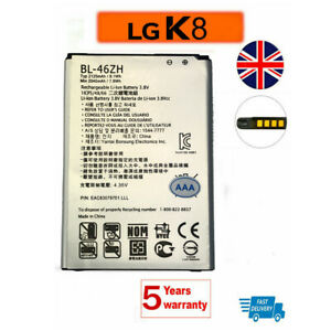 battery for LG BL-46ZH Replacement Battery 2045mAh 7.8Wh 3.8v For LG K8 K350N