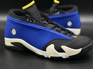 """Jordan 14 """"Laney/Blue/Yellow/White/Black"""" Sz 14 807511-405"""