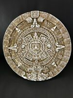 "Mayan Aztec Calendar Mexican Wall Hanging Art Home Decor 12"" Signed"