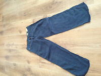 boys age 6 C.P. Company blue linen trousers good condition 100% authentic